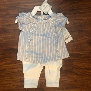 Carters newborn shirt and pants